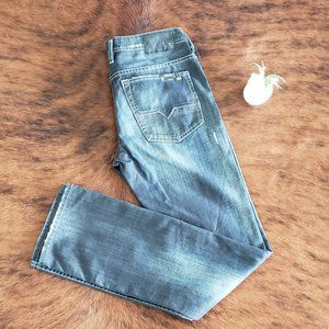 Buffalo Driven Straigh Dark Distressed Jeans - NWT